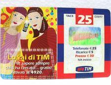 """SCHEDA TELEFONICA RICARICARD-""""LO SAI DI TIM""""-EURO 50-APR 2005"""