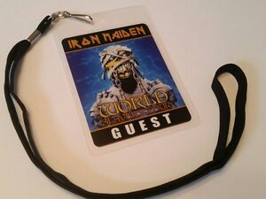Iron Maiden  BACKSTAGE PASS 2-Sided with signatures!    commemorative  look!