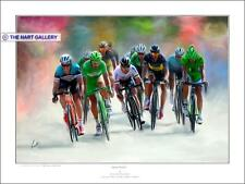 Cycling Cycle Racing Tour De France Featuring Mark Cavendish Print Limited. Ed.