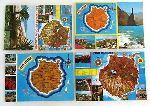 SPANIEN Kanaren Postkarten Lot 4 x AK Gran Canaria Kanarische Insel AK frankiert