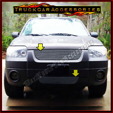 For FORD Escape 2005 2006 2007 Polished Grille 2PC Combo Upper CUT+Bumper BOLT