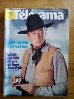 TELERAMA N°1717 DECEMBRE 1982- GARY COOPER