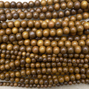 Natural Robles Wood Round Beads Various Sizes Undyed Unvarnished