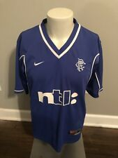 Glasgow Rangers SCotland 2000 2001 Home Nike Football Jersey Medium ntl: