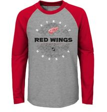 Youth Boy Girl Detroit Red Wings Nhl Hockey L/S Tee Top (M) 8-10 (L) 12-14 Nwt