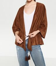 NWT ZARA FLOWING JACKET W/ BRAIDED BELT KIMONO TOFFE BROWN 1628/027 FALL AUTUMN