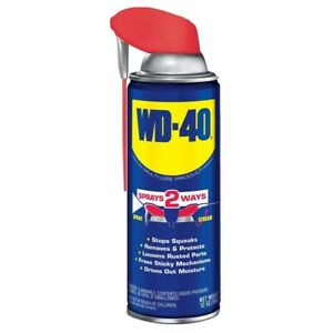 12 oz WD-40 Multi-Purpose Lubricant w/ Smart Straw Spray Two Ways ~ NEW 490057