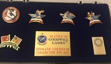 Seattle Goodwill Games 1990 Spokane Coliseum Collector Pin Set
