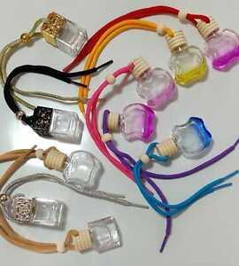 Empty Car Perfume Bottle Diffuser Air Freshner Gadget Mini Ornament Hanging