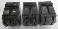 (3) GE Type THQB Circuit Breaker 2P 50A 120/240VAC