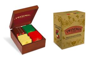 Twinings tè Scatola Regalo Box in Legno 40 Filtri tea 4 gusti tè pregiati