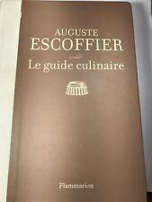 Le Guide Culinaire Auguste Escoffier 2009 Hardcover Edition in French