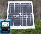 10W 12V solar panel battery charger motorhome caravan camper boat car 3A control