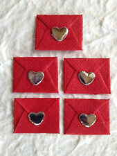 5 Red Envelopes hearts Love Letter letters Valentine valentines embellishment