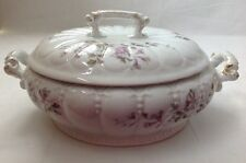 LS&S Carlsbad Austria Round Covered Casserole Dish with Purple Flowers
