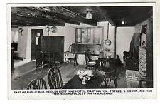 Ye Olde Cott Inne Hotel Totnes Real Photo Postcard 1950