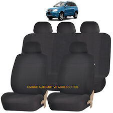 BLACK ELEGANCE AIRBAG COMPATIBLE SEAT COVER SET for SATURN ION VUE