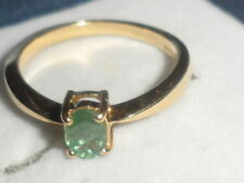 GOOD COLOUR CHANGE VERY RARE 18K INDIAN ALEXANDRITE OVAL CUT RING 0.428CTS RARE-