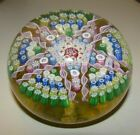 1977+Perthshire+PP30+Millefiori+Star+Art+Glass+Paperweight+Amber+Base