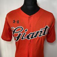 Under Armour Tokyo Yomiuri Giants Japan Japanese Red Baseball Shirt Jersey UK M