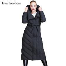 Luxury 90% Duck Down Parka Women's Long Loose Cocoon Outwear Oversized Coat