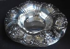 "Gorham Sterling Silver 10"" Dia. Repousse Fruit Bowl - 10.5 Ounces"