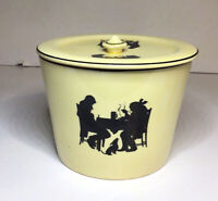 Pantry Bak In By Ware Crooksville Silhouette Canister With Lid Vtg