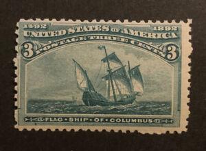 TDStamps: US Stamps Scott#232 3c Columbian Mint NH OG
