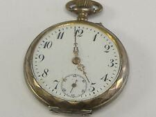 ERLIER SWISS( FRENCH) 800 SILVER CYLINDER POCKET WATCH 44 MM CASE,keeps time