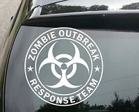 large ZOMBIE OUTBREAK RESPONSE TEAM Funny Car/Window JDM VW Vinyl Decal Sticker