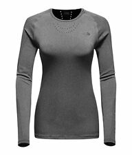 The North Face Women's FLIGHT SERIES WARP L/S Ultimate Running XFit Top Grey M L
