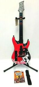 Wii Guitar Hero THE GIRL Wireless Guitar Bundle*Strap*GH LEGENDS OF ROCK Game