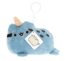 Gund Pusheen Pusheenimals Narwhal Plush Toy Clip Blue New with Tags