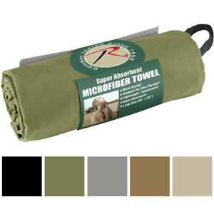 Microfiber Towel Quick Drying Absorbent Antibacterial Lightweight Packable Army