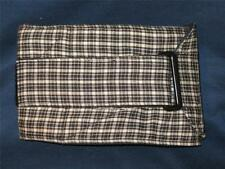 """ULTIMATE DOG K-9 Belly Bands Diapers Wrap Blk/Wht Plaid  Med 23-19 x 6"""" Reusable"""