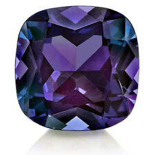 Lab-Created Pulled Alexandrite True Color Change Cushion Loose Stone (3x3-25x25)