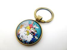MOOMINS FAMILY & FRIENDS PICTURE ROUND ANTIQUE BRONZE CHARM SPLIT RING KEYRING