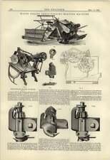 1884 Walter Wood Sheaf Binding Reaping Machine