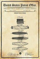 US Patent Zigarre Cigar 1887 Blechschild Schild gewölbt Tin Sign 20 x 30 cm