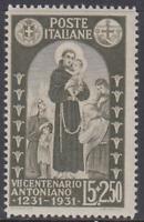 Italy Regno - 1931 S.Antonio - Sass. n.298 cv 150$ MNH**