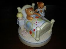 Lucy And Me. 1982 Enesco. Bears. Angel Of God. Rare Porcelain Night Light