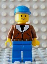 LEGO Classic Town Minifig Worker Citizen Bomber Jacket Blue Legs and Hat