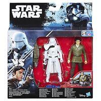 STAR WARS EL DESPERTAR DE LA FUERZA POE DAMERON y First Order Snowtrooper Deluxe