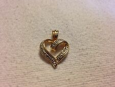 """Heart Pendant Marked """"R 925 China"""" With 2 Diamonds (Tested) Wt 3.22 Grams"""