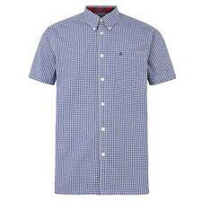 Camicie casual e maglie da uomo blu Merc in cotone