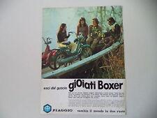advertising Pubblicità 1975 PIAGGIO BOXER 2 50