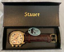 Golden Stauer Watch w/Leather Strap, Model: 19818, Timepiece