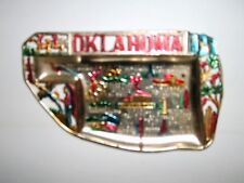 Vintage Oklahoma State  Metal Ashtray Made in Japan Souvenir