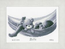Baby in Hammock : Birth Record :  Vervaco Counted Cross Stitch Kit  PN0150906