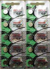 371 MAXELL WATCH BATTERIES (10 piece) SR920SW SR920 371 D370 NewAuthorizedSeller